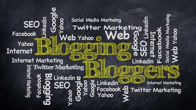 ブログで色々な情報が集まっているイメージ図
